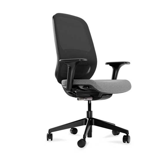 workwell black mesh upholstered seat connection