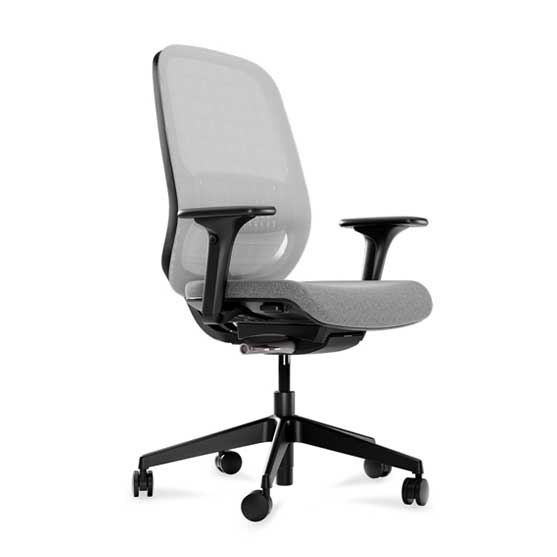 workwell mesh back upholstered seat connection