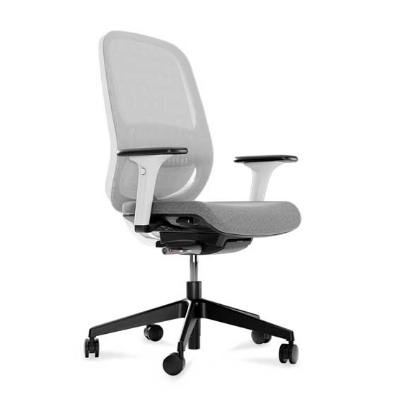 connection workwell chair white arms mesh back