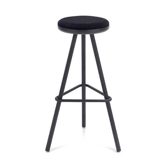 tubes high stool black frame