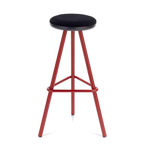 tubes high stool red frame
