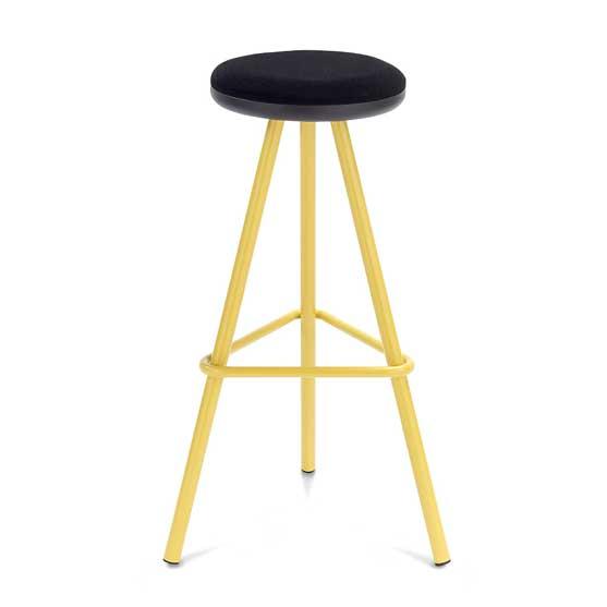 tubes high stool yello frame