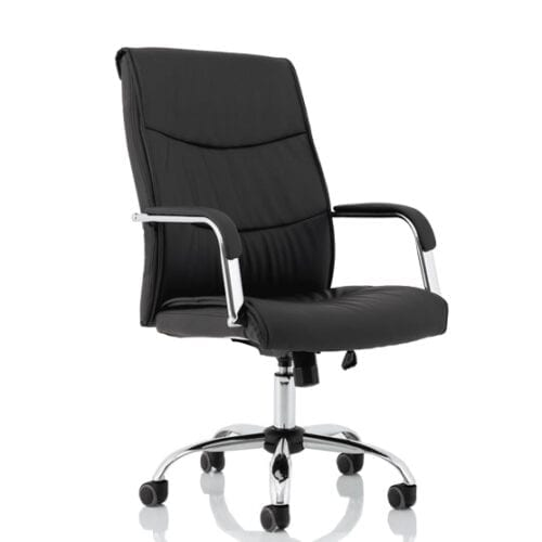 Carter Black Luxury Faux Leather Chair