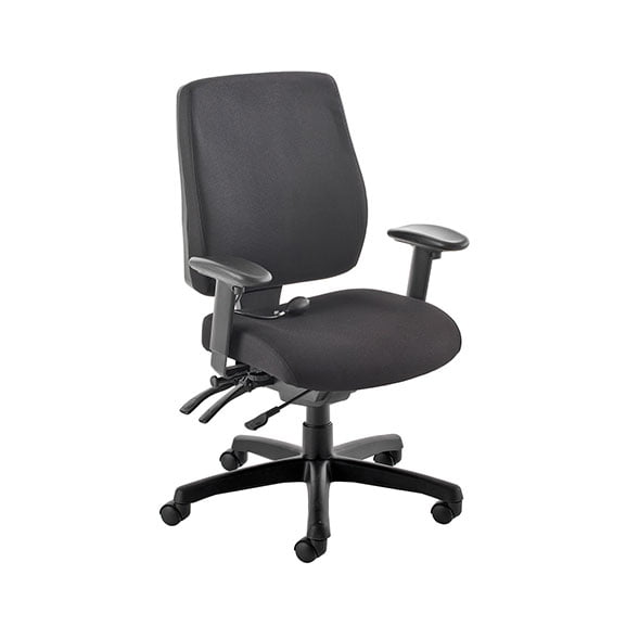 PSI Performance computer chair in black with height adjustable arms