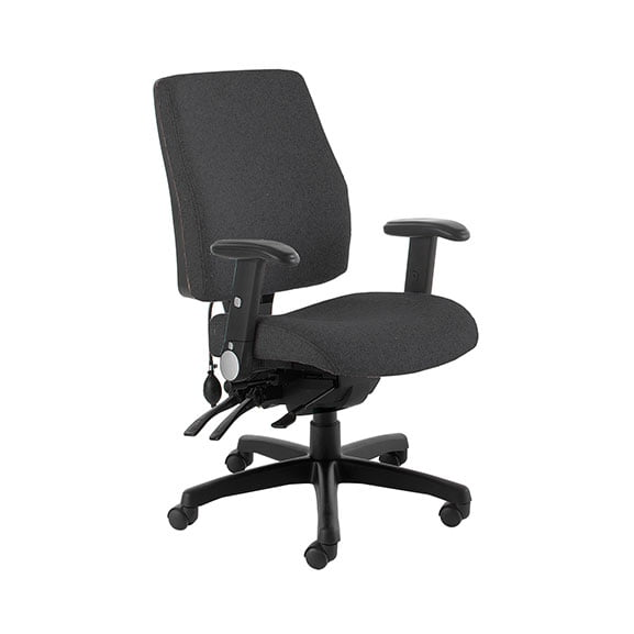 Black performance computer chair from psi seating
